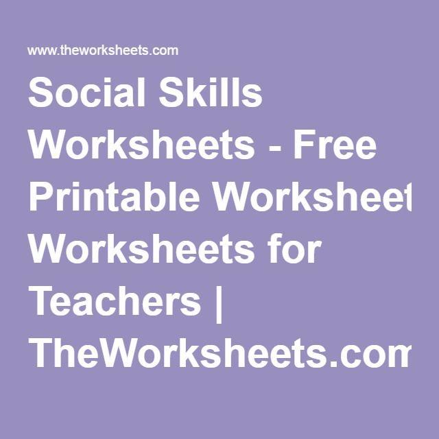Social Skills Worksheets - Free Printable Worksheets for Teachers | TheWorksheets.com
