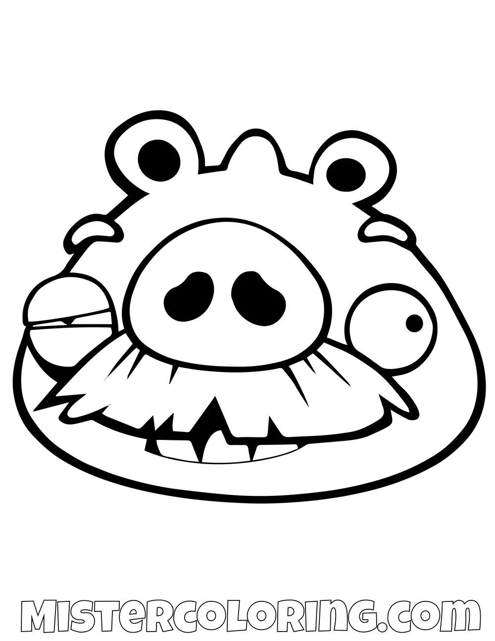 Angry Birds Halloween Kleurplaten.Pig Beat Up Angry Birds Coloring Pages Bird Coloring Pages