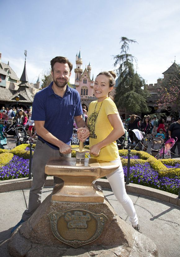 Jason Sudeikis & Olivia Wilde at Disneyland