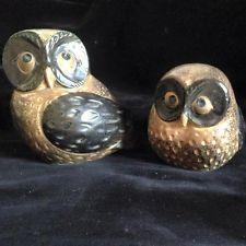 VINTAGE DECORATIVE OWLS SET OF TWO
