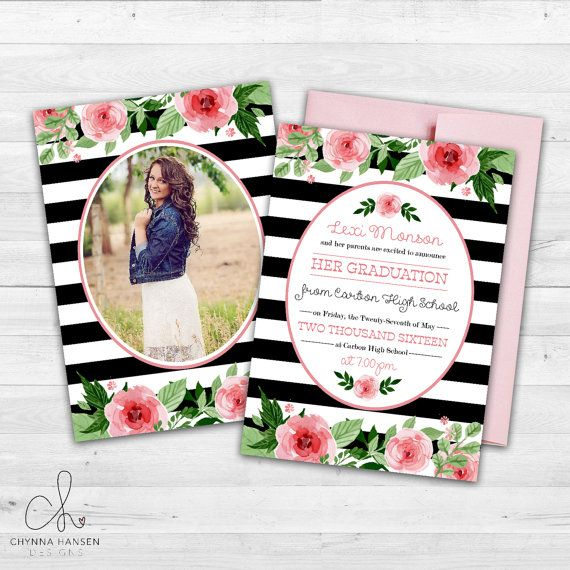 Senior Graduation Announcement X By Chynnahansendesigns