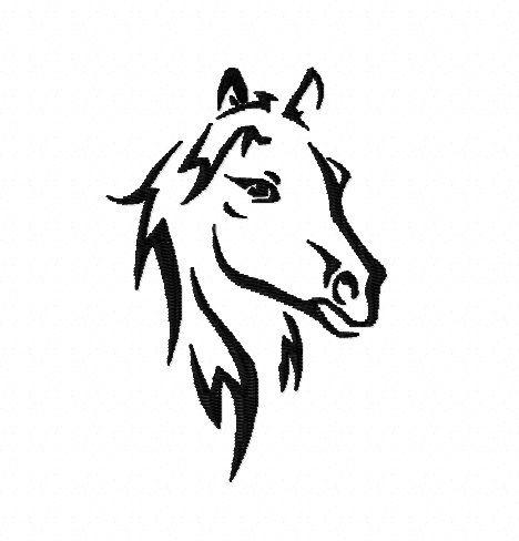 Stickdatei Pferdekopf 10x10 von NinniDesign auf DaWanda ...
