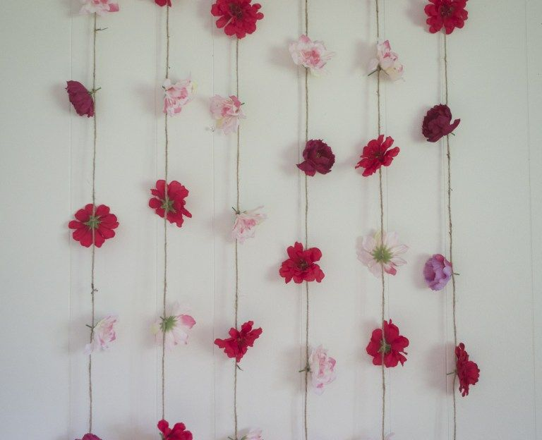 20 Flower Decoration Ideas Giving Picturesque Purposes To Faux Or Real Florals Hanging Flower Wall Diy Floral Decor Faux Flowers