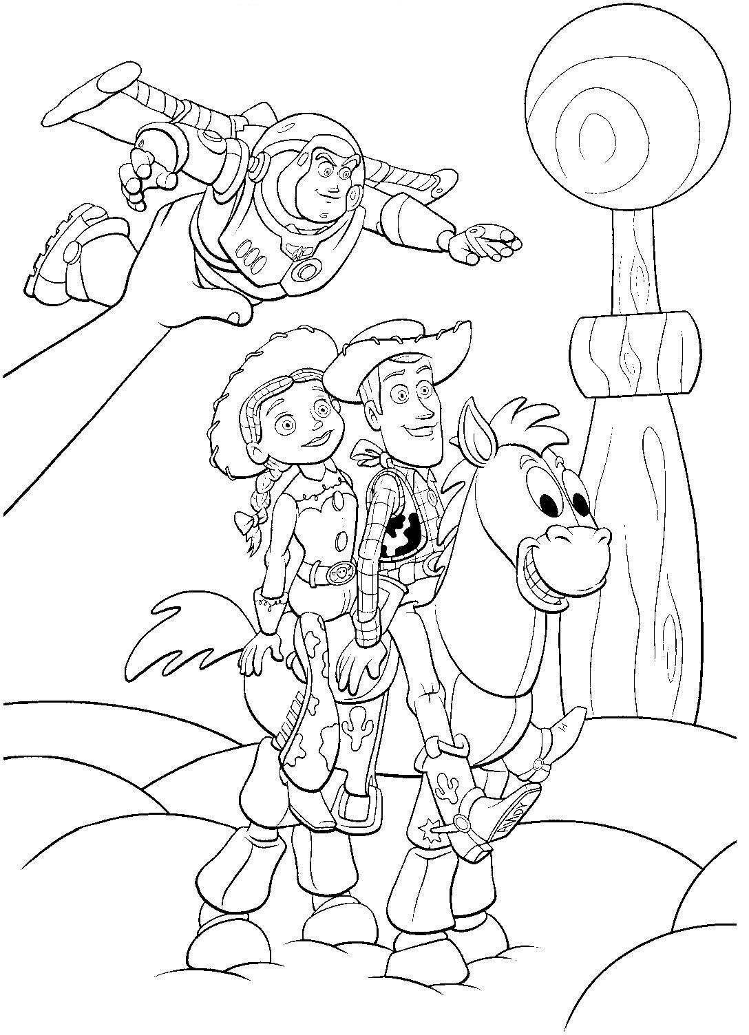 Toy Story Coloring Page Disney Coloring Pages Cartoon Coloring