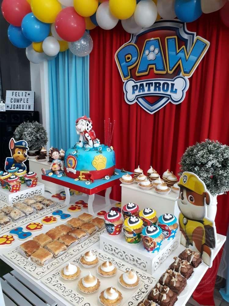 4 Th years Paw Patrol Joaquin Birthday Party Ideas