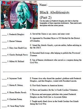 Frederick Douglass For Kids Black Abolitionists Worksheet Part 2 Abolitionist Frederick Douglass Trade Books Landmark supreme court cases worksheet