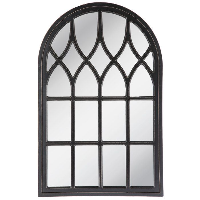Black Cathedral Arch Wood Wall Mirror Hobby Lobby 1664366 Mirror Wall Decor Hanging Wall Mirror Lighted Wall Mirror