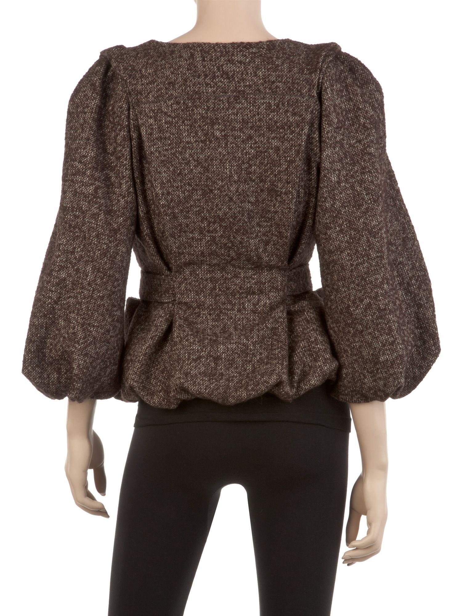 Heathered Wool Tweed Blouson Jacket   Designer Dressy Jackets - Max Studio> Back view for my Max Mara alteration idea REd tweed suit