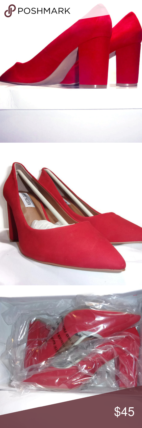 6d8b080128b Brand New Steve Madden Ashlyn Pump Red Nubuck 7M Brand New Never Worn  Exclusive Steve Madden Ashlyn Women s Pump Red Nubuck Leather Sz. 7M US.