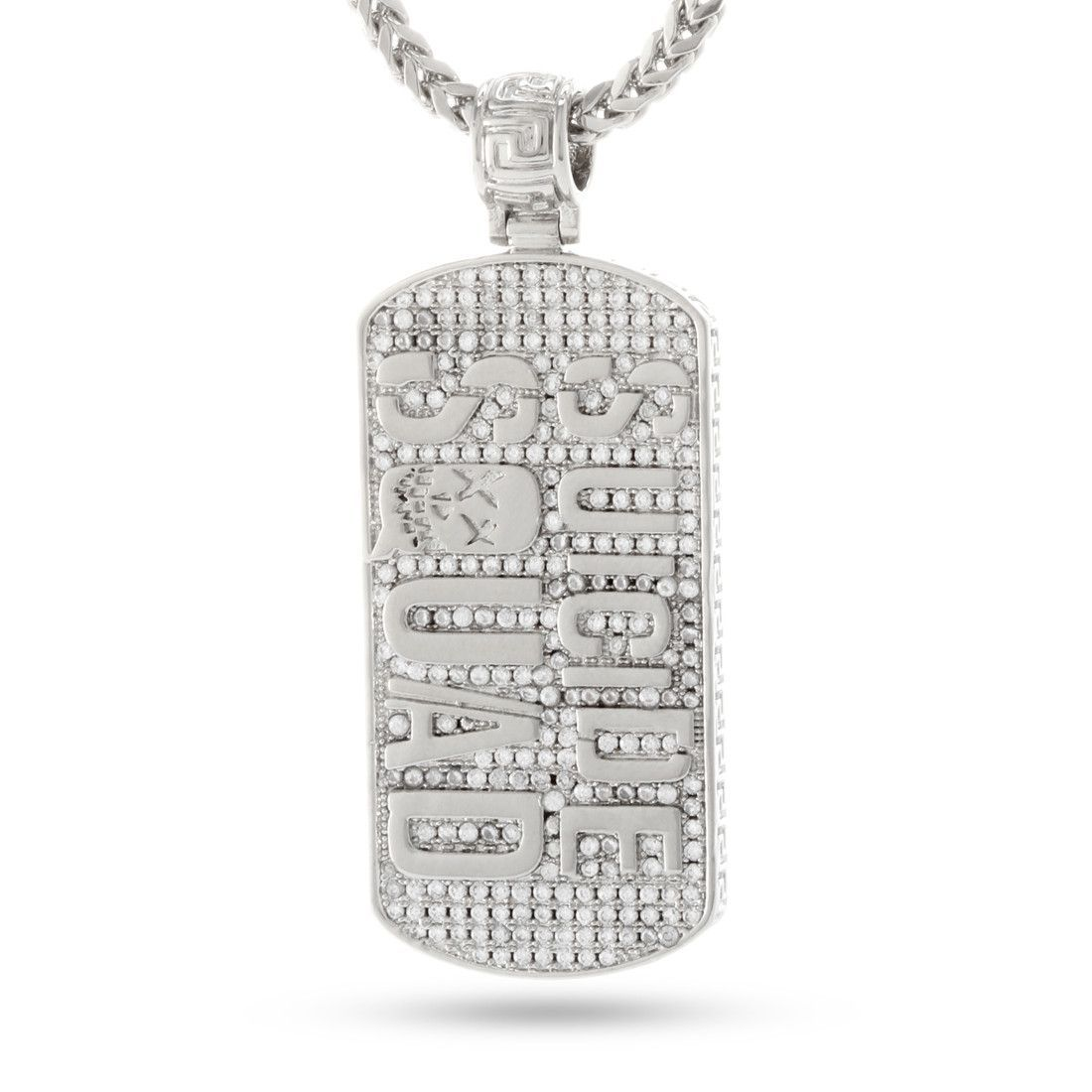 White Gold Dog Tag Necklace from Suicide Squad