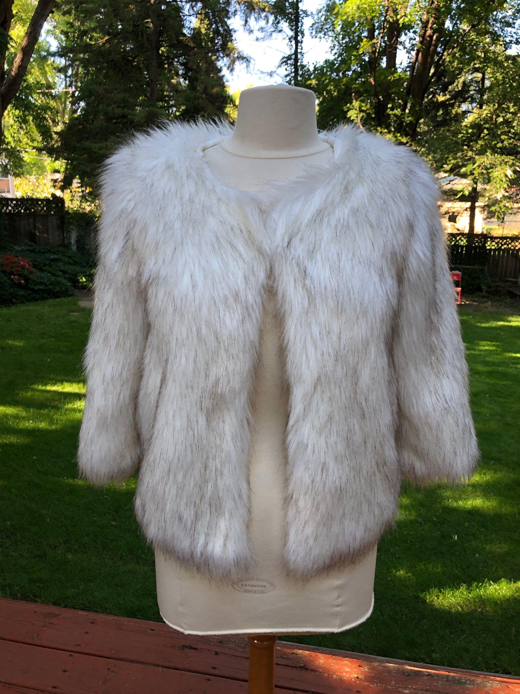 White Faux Fur Gilet Size 3-4 Years