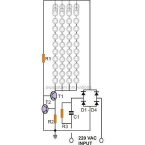 The discussed circuit for a simple solar LED street light