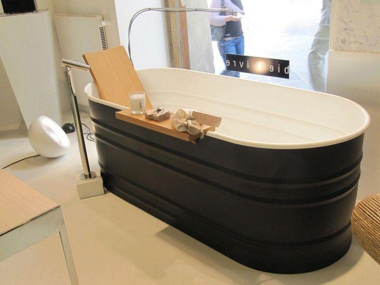 20 Classy Trough Bathtub Ideas In 2020 Galvanized Bathtub