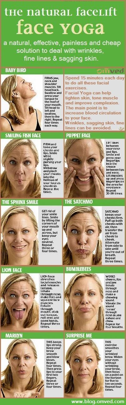 You are Facial muscle toning exercises