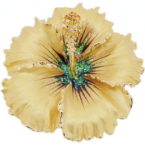 Amazon com: Topaz Hawaiian Hibiscus Swarovski Crystal Flower
