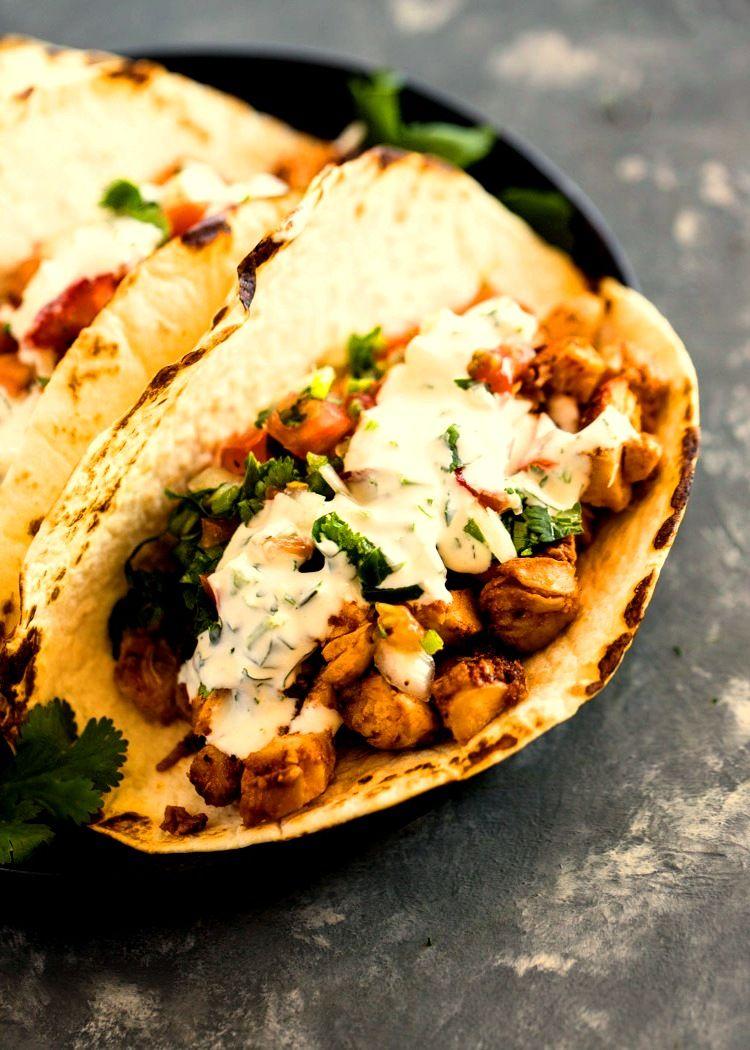 Easy 20 Minute Chicken Tacos Chicken Tacos