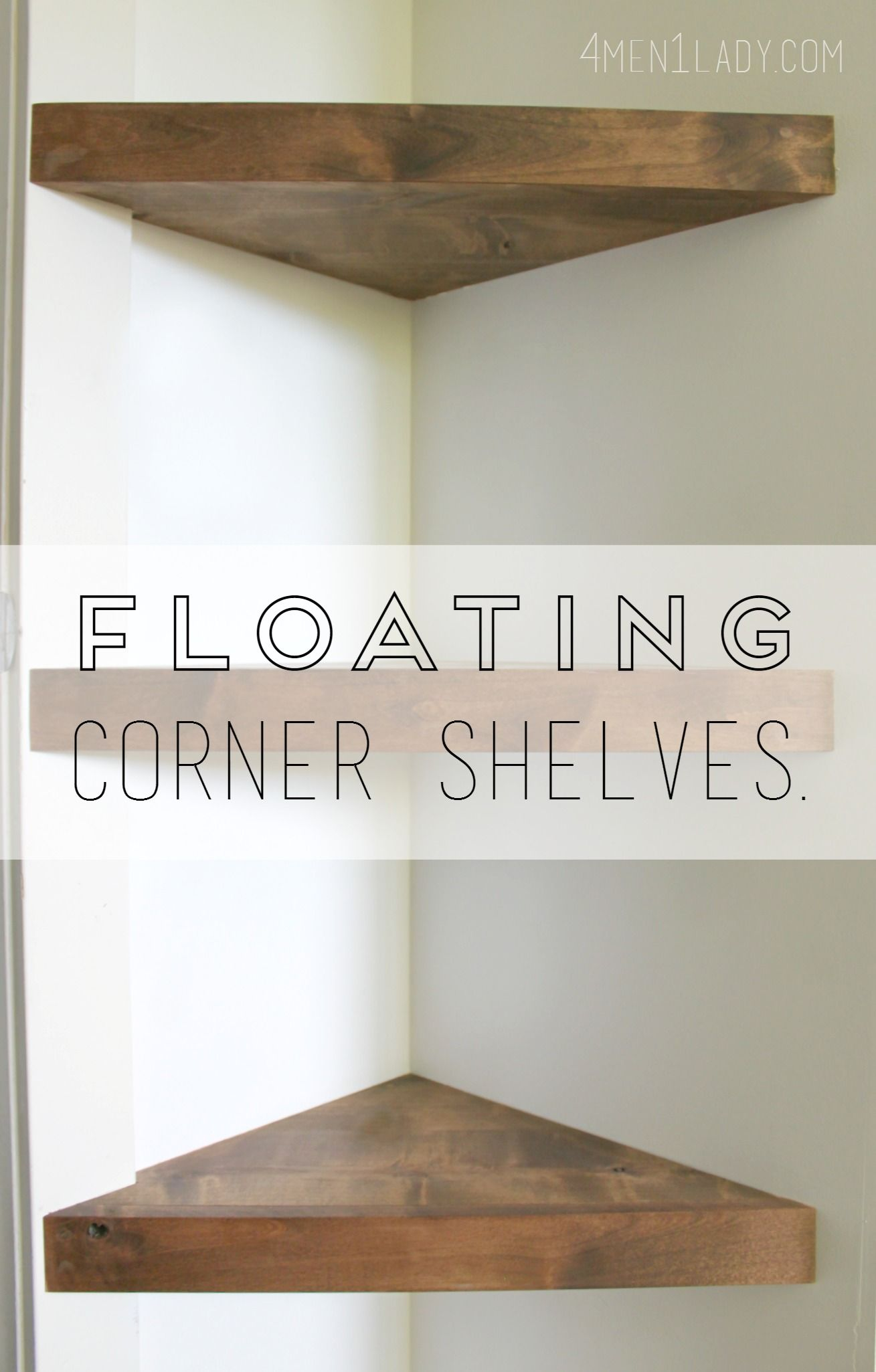 How To Make Corner Floating Shelves Detailed Instructions - Corner floating wall shelf hidden bracket wall shelving corner wall