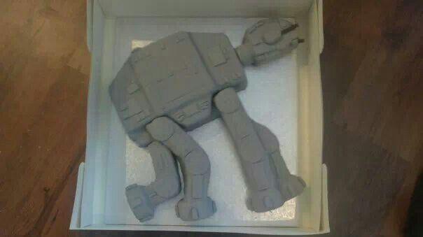 4th birthday at-at cake made by me