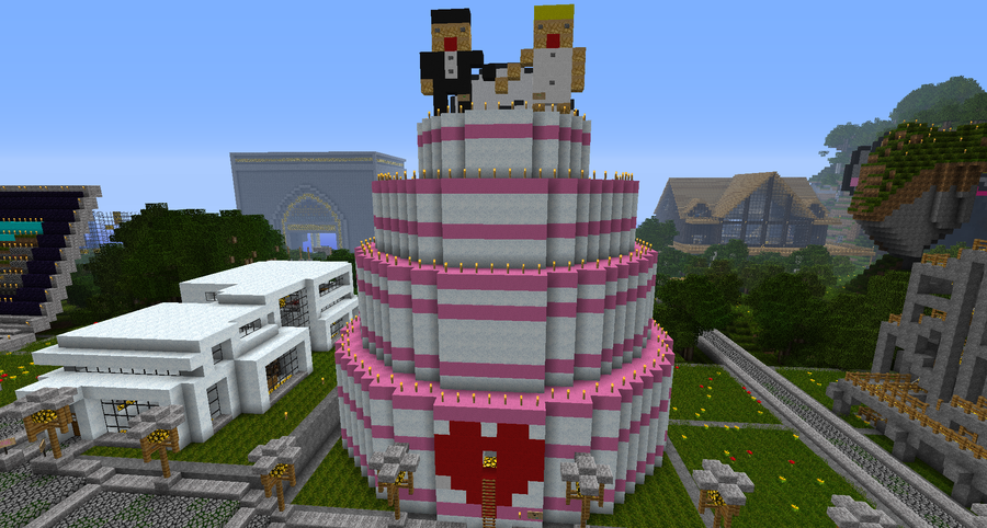 Minecraft Wedding Cake By Project Offset On Deviantart Some