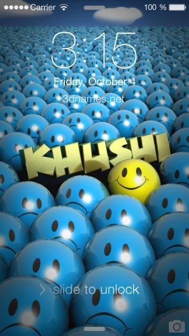 Preview Of Special Smileys For Name Khushi Name Wallpaper