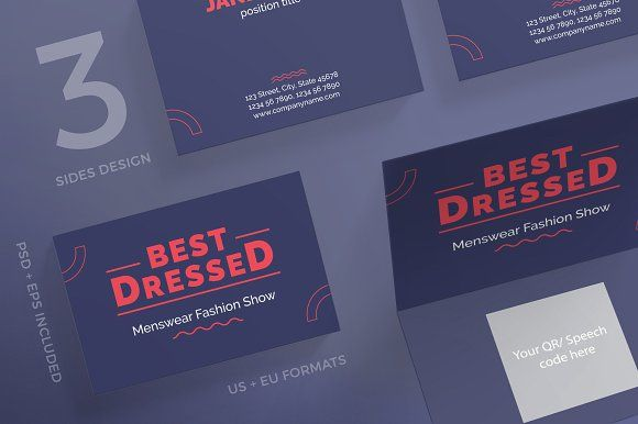 Business Cards Best Dressed Business Cards Creative Templates Business Card Template Design Unique Business Cards