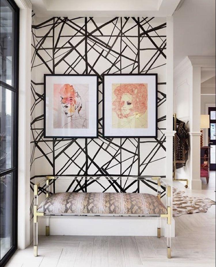 Kelly Wearstler wallpaper/colors/bench | Home decor, Asian ...