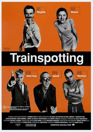 Trainspotting (1996). Renton, deeply immersed in the Edinburgh drug scene, tries to clean up and get out, despite the allure of the drugs and influence of friends.