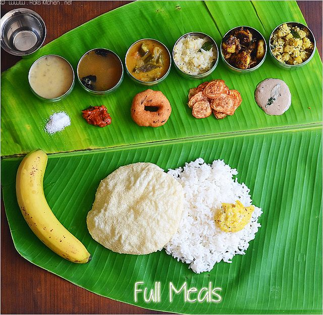 Indian Wedding Food: South Indian Meals- Lunch Menu 17 (Thala Vazhai Ilai