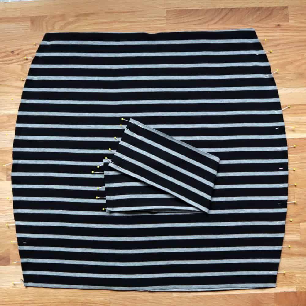 Coudre une jupe en jersey simple Instructions et patron de couture   – Nähen