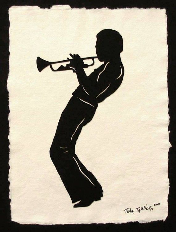 Miles Davis Handcut Silhouette Papercut By Tinatarnoff On Etsy