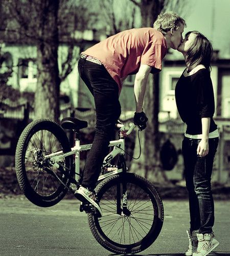 Tip Toes To Front Wheelies Anything For A Kiss Cute Couples