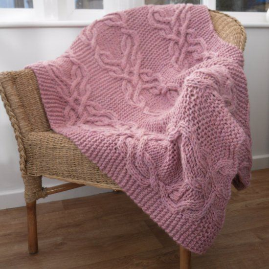 Free Knitting Pattern For A Stunning Cable Lap Blanket Charted And