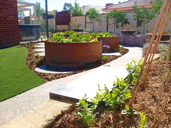 contemporary landscape by sustainable garden design perth - Garden Design Perth