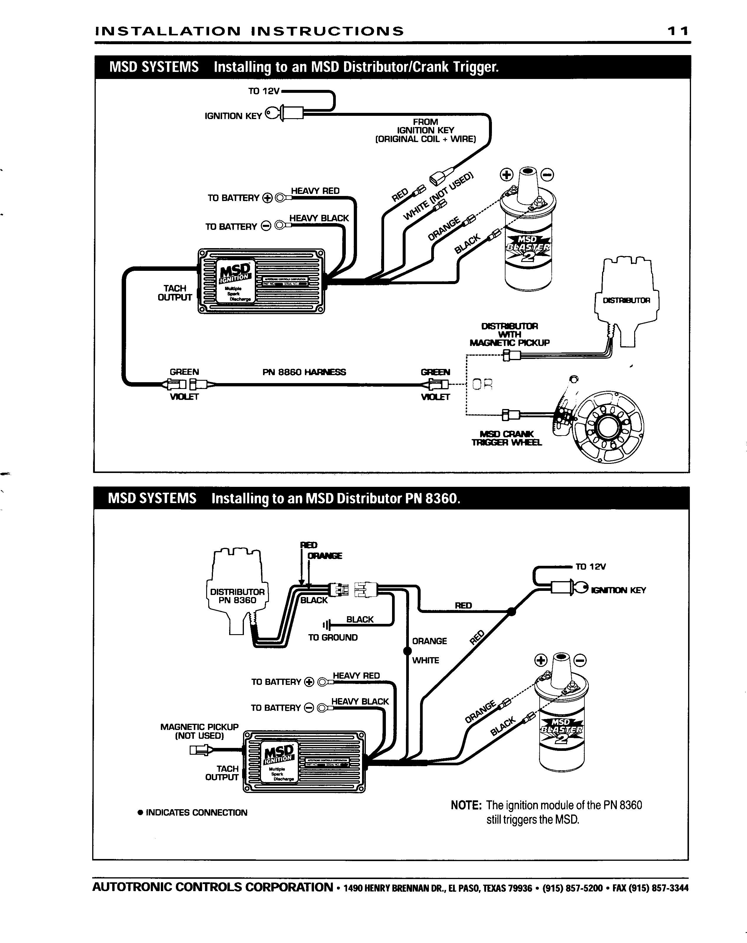 Msd Ignition Wiring Diagram Diagrams Schematics With Mallory Unilite