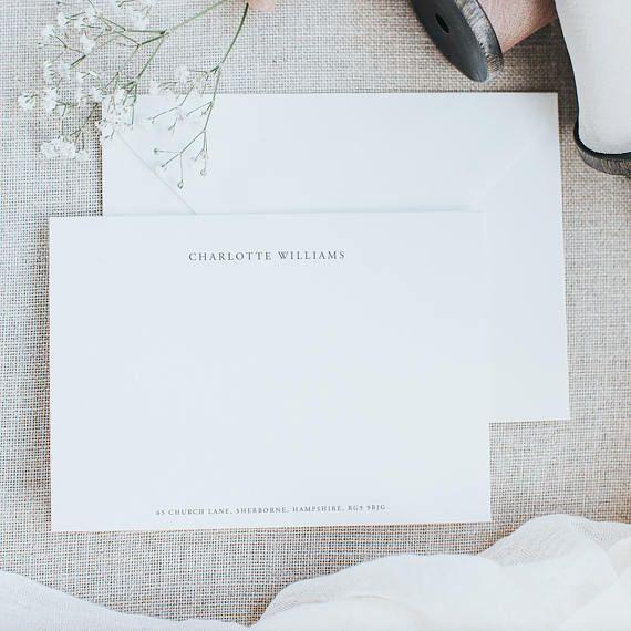 elegant personalised correspondence cards personalised stationery