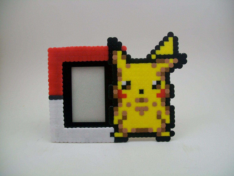 Pokemon Pikachu Mini Picture Frame | Pikachu | Frame, Perler