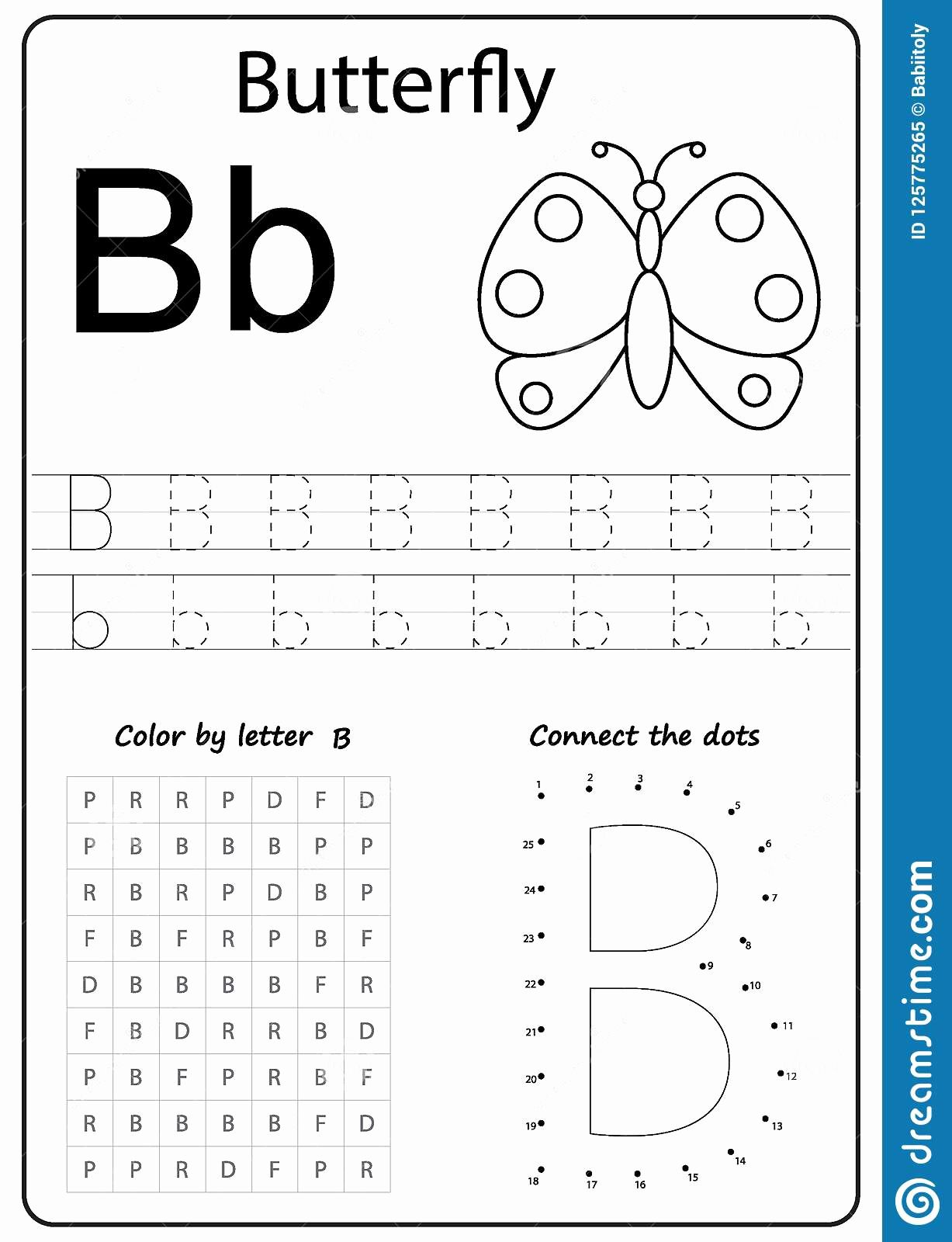 Worksheet For Kindergarten Letter B In