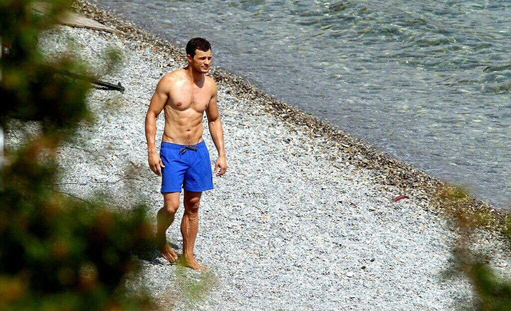 Mr. Grey looking hot and fine as always. (July 12,2016)