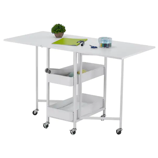 Kensington Table Rolling Cart By Simply Tidy In 2021 Cricut Storage Craft Tables With Storage Small Sewing Rooms