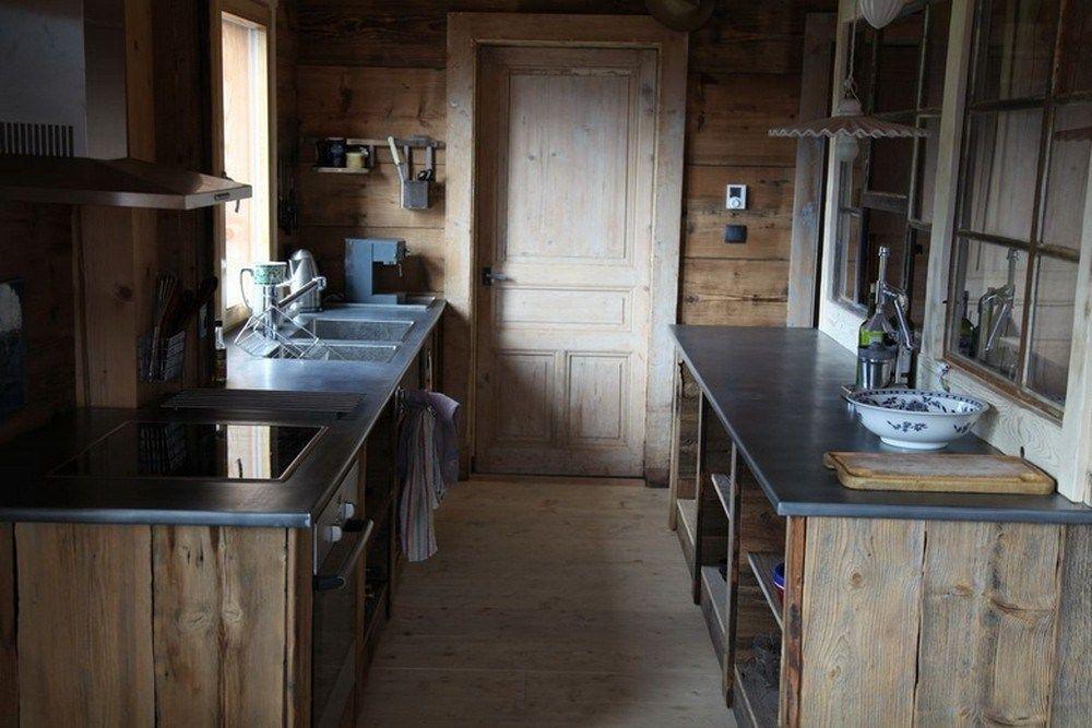Ensemble Plans De Travail En Zinc Avec Int Grations Pour Deux Viers Et Plaque Zinc Classique Renovation Cuisine Plan De Travail Idees Pour La Maison