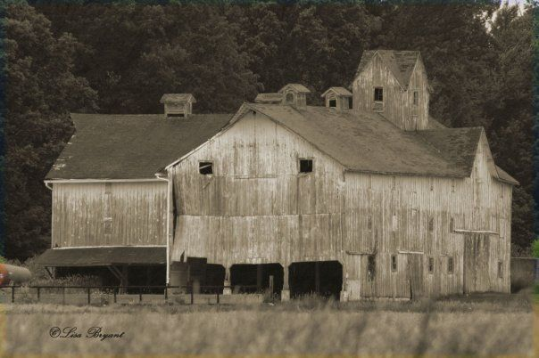 """This is a """"before"""" picture of the barn at Miller-Purdue ..."""