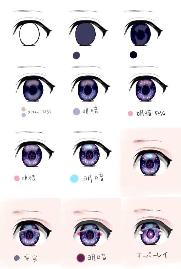 Twitter Digital Painting Tutorials Anime Eye Drawing Manga Eyes