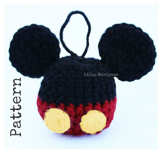 Crochet Christmas MICKEY MOUSE Ornament Pattern Crochet Mickey Mouse ...