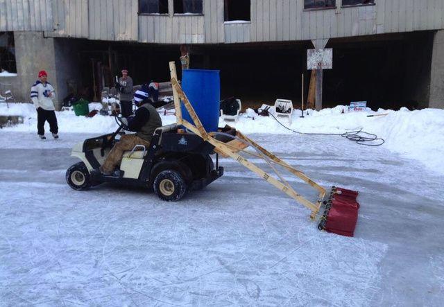 Backyard Hockey Rink Features Homemade Zamboni | Backyard ...