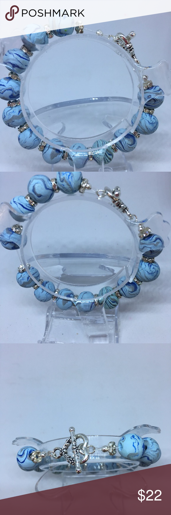 "Handmade Polymer Clay Beaded Bracelet ""Host Pick"""