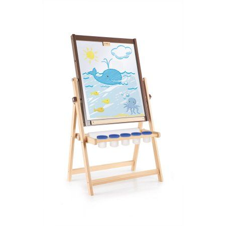 Guidecraft 4 In 1 Flipping Floor Easel Multicolor