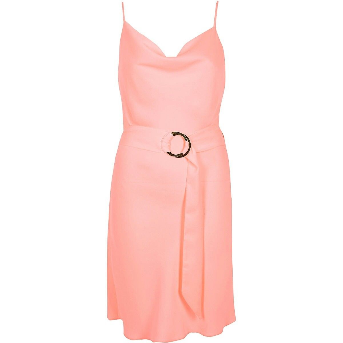 c934c726adb69 Bright pink cowl neck belted slip dress | Short Dresses x2 in 2019 ...