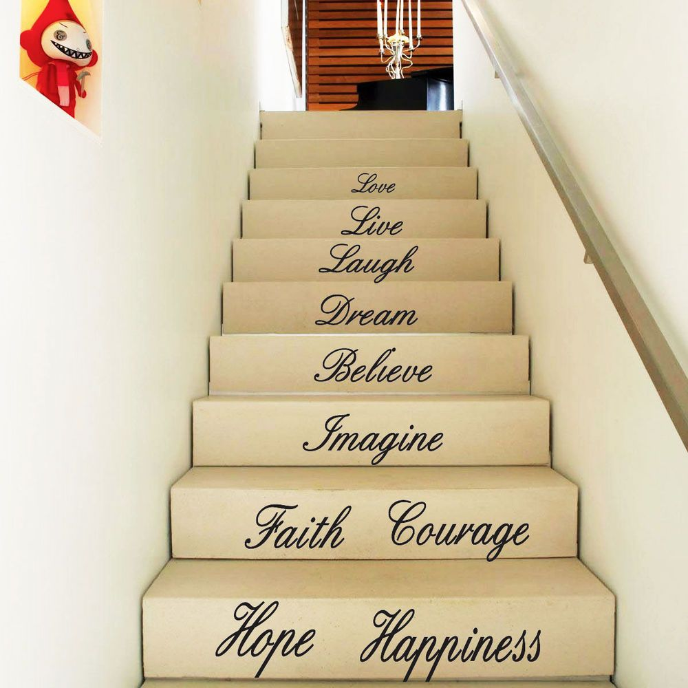 Live Love Believe-10 words Art Quote Wall Stickers Window Stickers ...