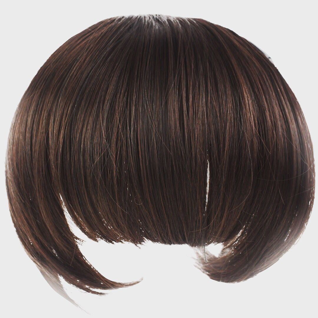New girlus lovely fibre synthetic hair fringe dark brownsoft and