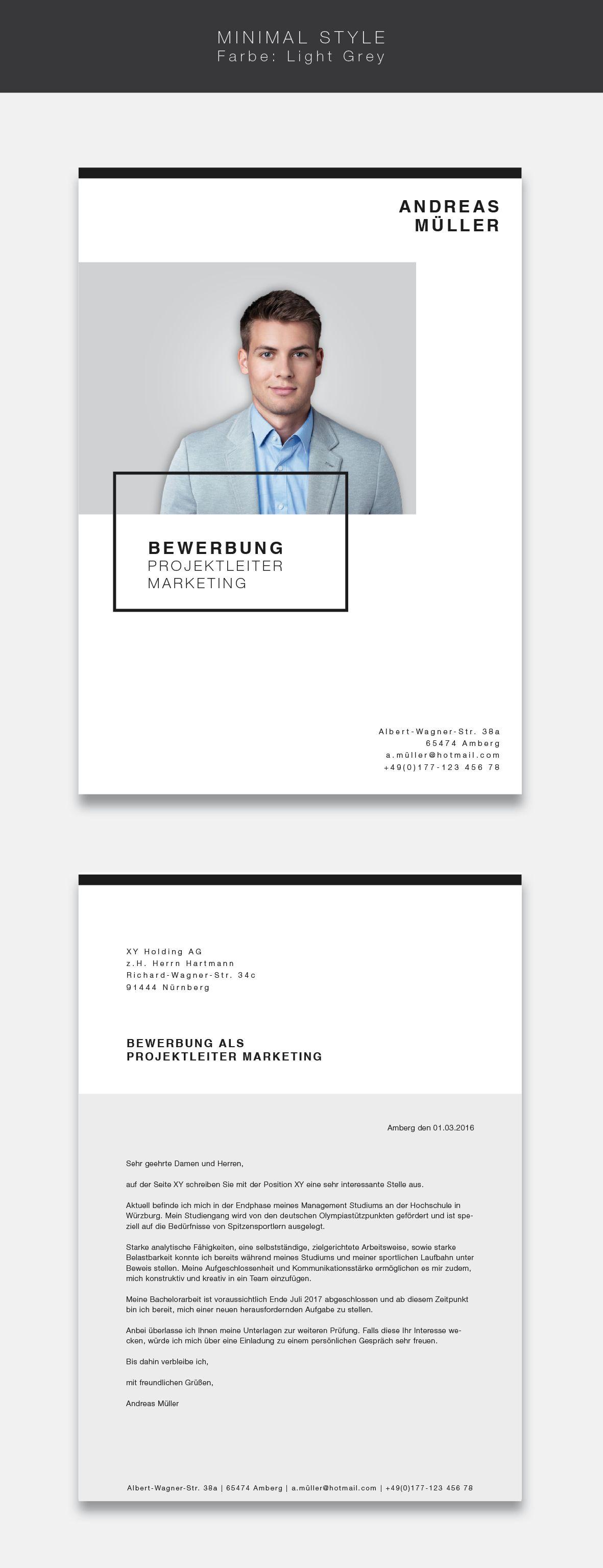 unsere neue bewerbungsvorlage cvtemplate minimal style in der farbe light grey